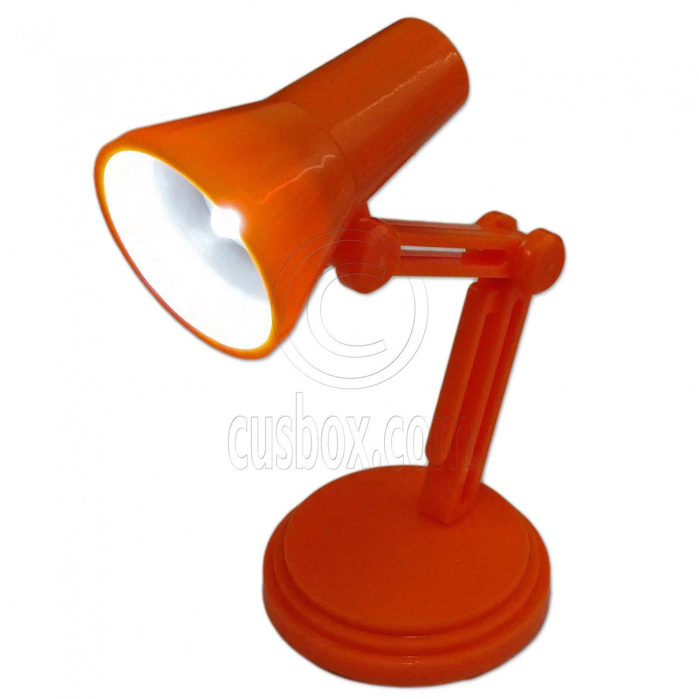 Orange Flexible Working LED Table Lamp Light 1:6 Barbie Monster High Doll's #13151