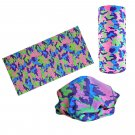 Pink Purple Green Camouflage Adult Women's Men's Cycling Hiking Scarf Bandana Bandanna Gear #13299