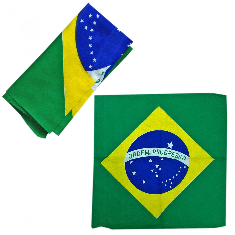 Big Brazil Flag Adult Women's Men's Cycling Hiking Scarf Bandana Bandanna Gear #13309