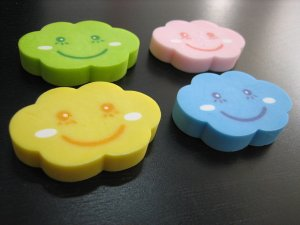 Smiley Cloud Eraser