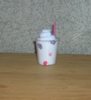 MINI WASHCLOTH MILKSHAKE ~ BABY SHOWER FAVOR