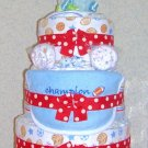 ~~L@@K~~ELITE SPORTS 3 TIER DIAPER CAKE FOR A BOY