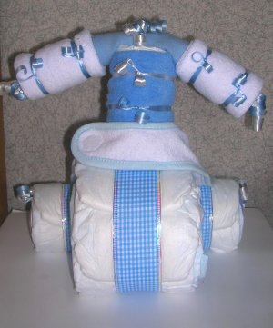 MINI DIAPER CAKE TRICYCLE~SHOWER GIFT~GIFTS BY JAYDE