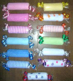 WASHCLOTH CANDY ROLL ~ BABY SHOWER FAVOR