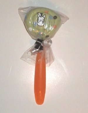 WASHCLOTH LOLLIPOP WITH BRAD~ BABY SHOWER FAVOR OR GIFT