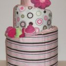 TOPSY TURVY DIAPER CAKE ~ TRENDY AND MODERN ~ GIFTS BY JAYDE