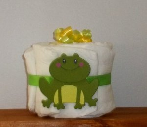 PEA SIZE ANIMAL THEME MINI DIAPER CAKE ~ SHOWER GIFT