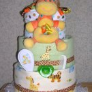 ELITE SAFARI  3 TIER DIAPER CAKE FOR GIRL/BOY/NEUTRAL
