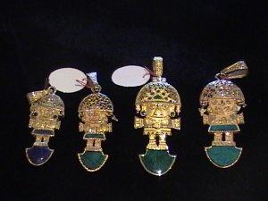 NEW GOLD TUMI PENDANT FROM CUSCO PERU