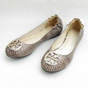 Tory Burch Reva Grey Roccia Snake Ballet Flat Size US 5-10