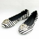 Tory Burch Black White Zebra Reva Pony Hair Flats Size US 5-10