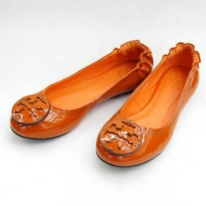 NIB TORY BURCH ORANGE REVA BALLET FLATS SHOES SIZE US 5-10