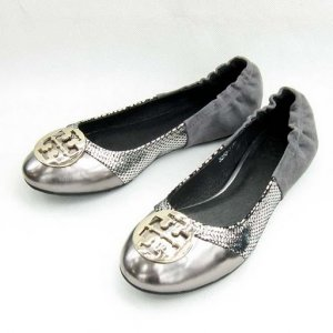 NIB Tory Burch Silve/Snake Romy Ballet Flats Shoes SIZE US 5-10