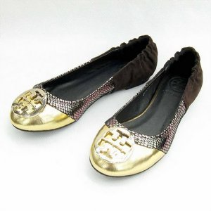 NIB Tory Burch Gold/Snake Romy Ballet Flats Shoes SIZE US 5-10