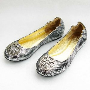 NEW TORY BURCH REVA ISLAND SILVEGLITTER SHOES SIZE US 5-10
