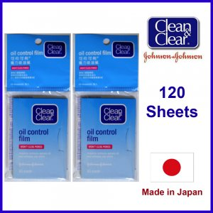 Clean & Clear Oil Control Film Absorbing and Blotting Paper 120 Sheets 50x80cm (Made in Japan)