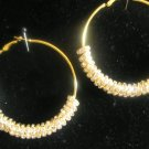 SALE!!BASKETBALL WIVES Gold Encrusted Charms on Hoop Earrings - SMALL