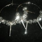 SALE!! Pewter Spiked Hoop Earrings as seen on BASKETBALL WIVES