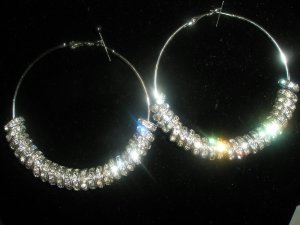 Silver Charm Hoop Fashion Earrings-SMALL