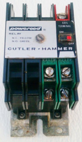 Cutler Hammer D40RB Reed Relay Base Coil 120 V Ser A2