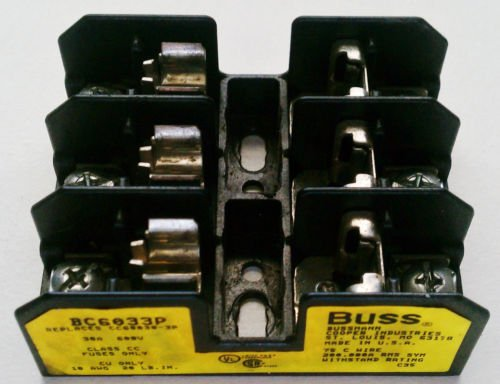 Buss BC6033P Fuse Block 30 Amp 600 Volt CC Fuse 3 Pole