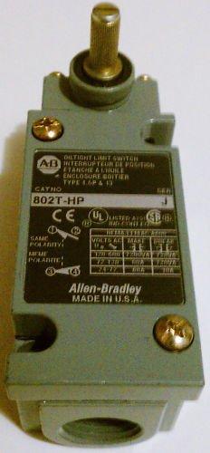 Allen Bradley 802T-HP Limit Switch Turret Head 600 Volt