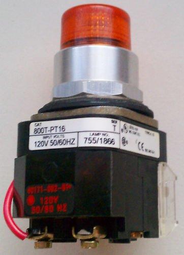 Allen Bradley 800T-PT16 Pilot Light Amber 120 Volt 4,13