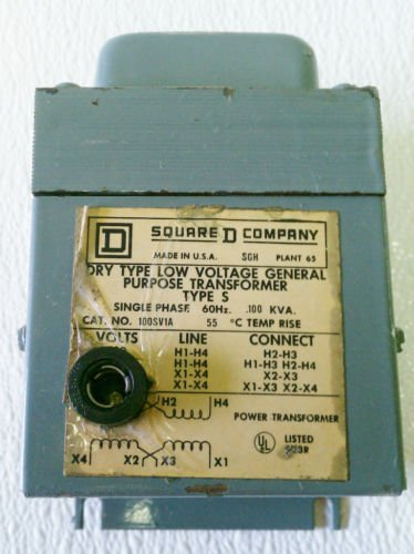 Square D 100SV1A Transformer 0.1 KVA 240/480/120/240 V
