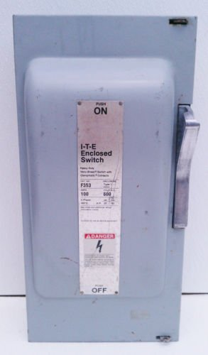ITE F353 Fusible Disconnect Safety Switch 100 Amp 600V