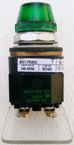 Allen Bradley 800T-PH26G Pilot Light Green 240 Volt