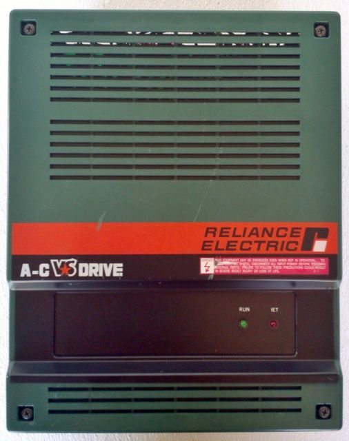 Reliance 1AC2003 AC Drive 3 HP VS 3 Ph 200/230 4.2 KVA