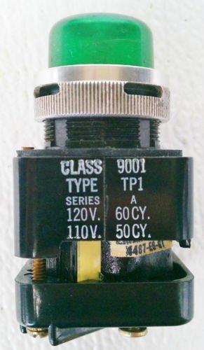 Square D 9001TP1 Series A Green Pilot Light 110/120 Volt 30 mm