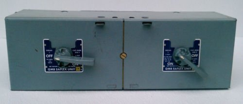Square D QMB-210-T Series 1 Saflex Dual Fusible Switch 100 Amp 250 Volt 2 Pole
