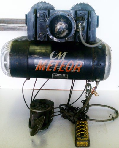 CM Meteor 5830 5 Ton Electric Cable Hoist Power Trolley 13 FPM Single Speed