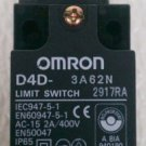 Omron D4D-3A62N Safety Limit Switch Type 4 2 Amp 400 Volt DPST NO/NC Roller Arm