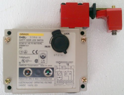 Omron D4BL-3CRA-A Limit Switch Safety Door Lock LED Indicator 24 VDC NEMA 6P/13