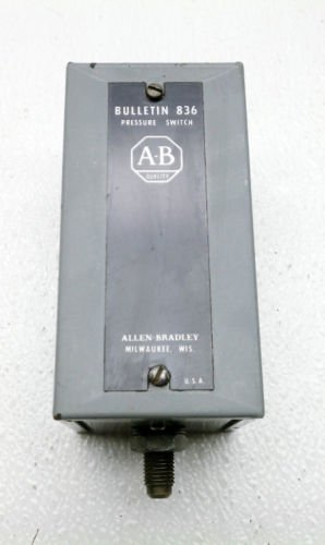 Allen Bradley 836-A2 Series A Pressure Switch 6-140 PSI 3-25 Differential Adj