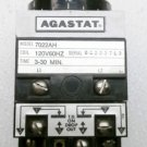 Agastat 7022AH Timing Relay 120 VAC Adjustable 3-30 Minute Delay on Drop Out