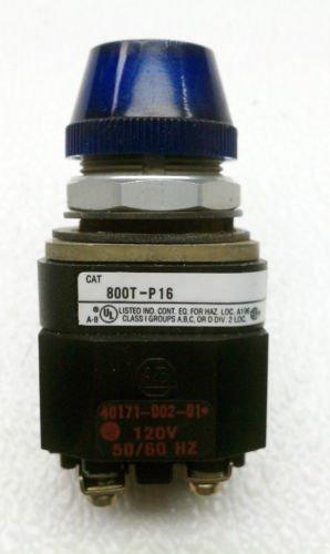 Allen Bradley 800T-P16 Series T Blue Pilot Light 120 Volt AC/DC NEMA 4, 13