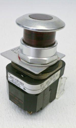 Allen Bradley 800T-FXD16D4 Series T Red E-Stop Mushroom Head Push Pull 120 VAC
