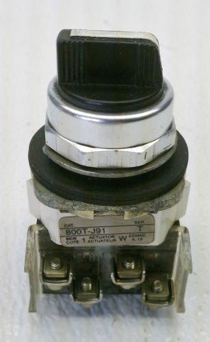 Allen Bradley 800T-J91 Series T 3 Position Selector Switch Spring Return Center