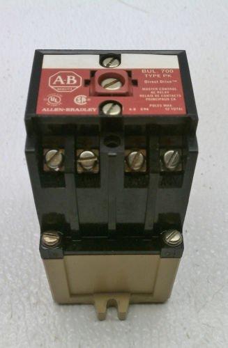 Allen Bradley 700-PK400A1 Series B Master Control Relay 110/120 Volt Coil 4 NO