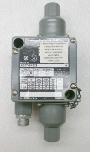 Allen Bradley 836T-D452J Differential Pressure Switch 5-40 lbs/sq. in 600 VAC 5A