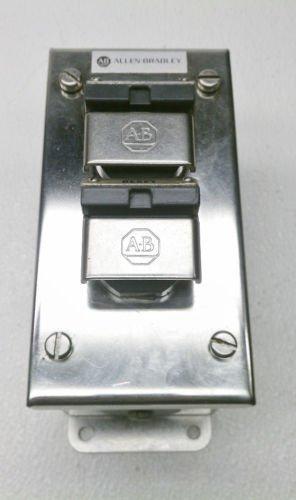 Allen Bradley 800H-2HX4 Series R 30.5 mm Stainless 2 Push Button Station