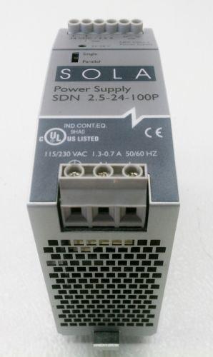 SOLA SDN 5-24-100P Power Supply 115/230 VAC 1.3-0.7 Amp  to 24 VDC 2.5 Amp