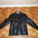 NEW WOMEN'S BLACK GENUINE PATCH LEATHER JACKET/COAT SIZE MED