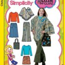 4897 SIMPLICITY LIZZIE MCGUIRE BBGIRLS 8 1/2-16 1/2, PONCHO,SHIRT,PANTS,2 SKIRTS