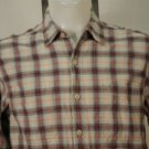 Levi Strauss Blue W/ Brown Plaid Casual Shirt M