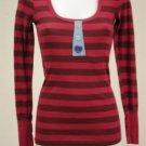NWOT Delia's Red & Maroon Stripes