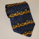 "Silly Awesome ""A Hungry Frog"" Tie 100% Silk"
